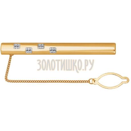Зажим для галстука в стиле «геометрия» 090046
