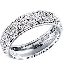 Женское кольцо из белого золота 1010256