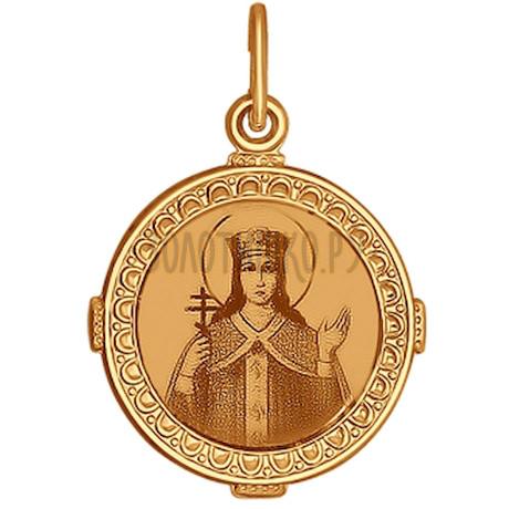 Иконка из золота с лазерной обработкой 101048