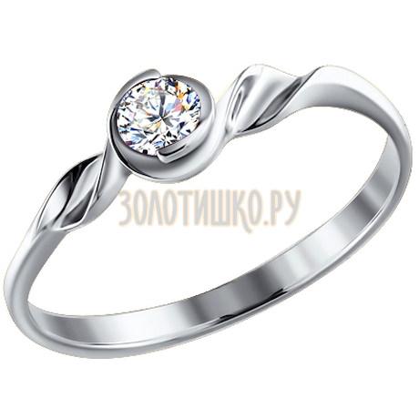 Золотое помолвочное кольцо с бриллиантом 1010521