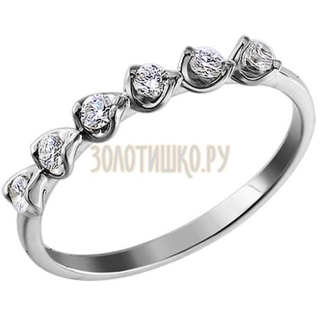 Тонкое кольцо с шестью бриллиантами 1010527