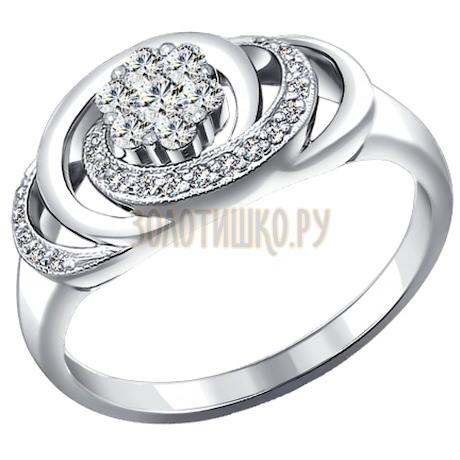 Кольцо из белого золота с бриллиантами 1010785