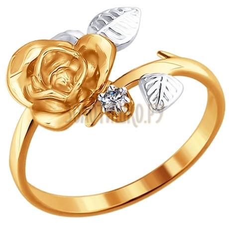 Кольцо «Роза» из золота 1010818
