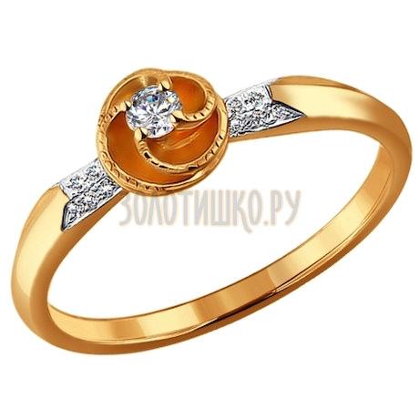 Кольцо из золота с бриллиантами 1010885