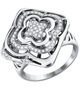 Ажурное кольцо c бриллиантами 1011030