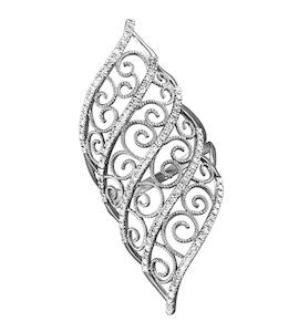 Ажурное кольцо из белого золота 1011144