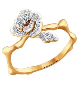 Кольцо из золота с бриллиантами 1011277