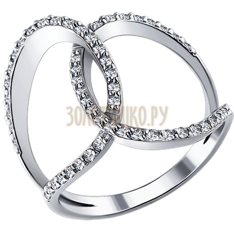 Кольцо из белого золота с бриллиантами 1011300