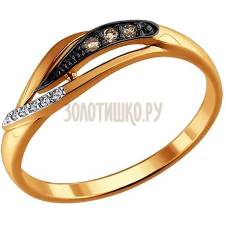 Кольцо из золота с бриллиантами 1011326