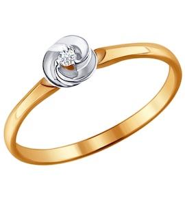 Помолвочное кольцо из золота с бриллиантом 1011387