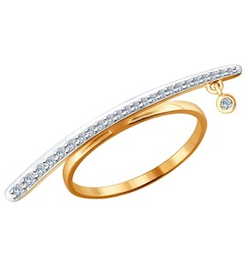 Кольцо из золота с бриллиантами 1011430