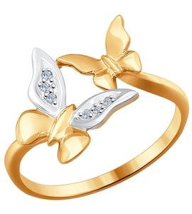 Кольцо из золота с бриллиантами 1011525