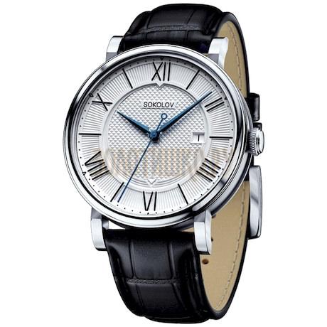 Мужские серебряные часы 101.30.00.000.01.01.3