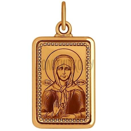 Иконка из золота с лазерной обработкой 101335