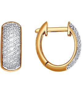 Серьги-колечки с бриллиантами 1020152