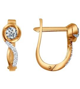Серьги из золота с бриллиантами 1020213