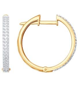 Серьги из золота с бриллиантами 1020566