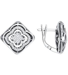 Ажурные серьги с бриллиантами 1020700
