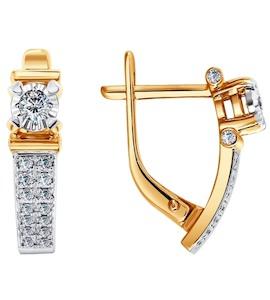 Серьги из золота с бриллиантами 1020742