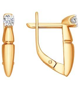 Серьги из золота с бриллиантами 1020787