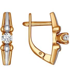 Серьги из золота с бриллиантами 1020791