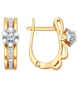 Элегантные серьги с бриллиантами 1020795