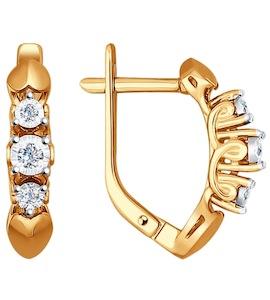 Серьги из золота с бриллиантами 1020853