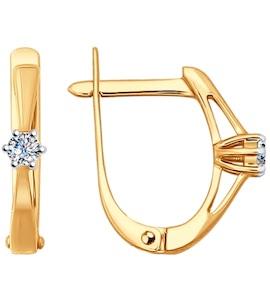 Серьги из золота с бриллиантами 1020891