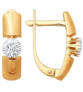 Серьги из золота с бриллиантами 1020897