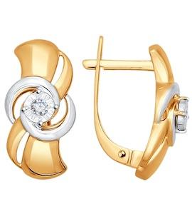 Серьги из золота с бриллиантами 1020900