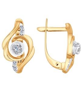 Серьги из золота с бриллиантами 1020901