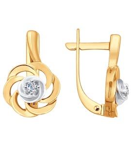 Серьги из золота с бриллиантами 1020905