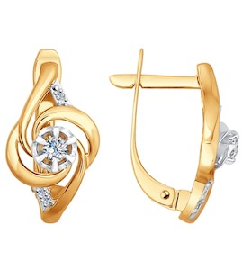 Серьги из золота с бриллиантами 1020906