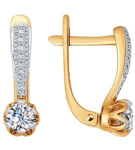 Серьги из золота с бриллиантами 1020944