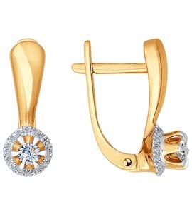 Серьги из золота с бриллиантами 1020953