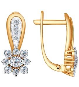 Серьги из золота с бриллиантами 1021011