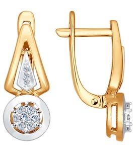 Серьги из золота с бриллиантами 1021021