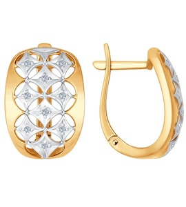 Серьги из золота с бриллиантами 1021038