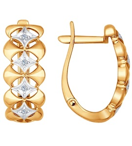 Серьги из золота с бриллиантами 1021040
