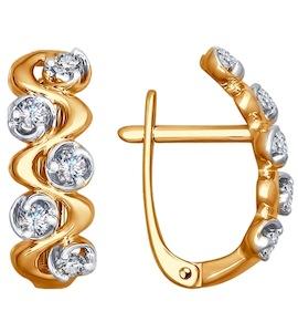 Серьги из золота с бриллиантами 1021083
