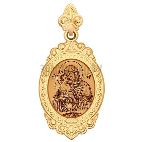 Иконка из золота с лазерной обработкой 102170