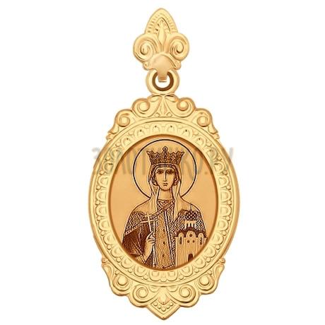 Иконка из золота с лазерной обработкой 102171