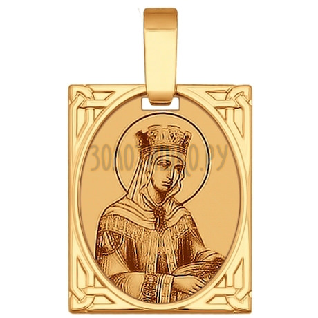 Иконка из золота с лазерной обработкой 102223