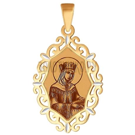 Иконка из золота с алмазной гранью и лазерной обработкой 102377