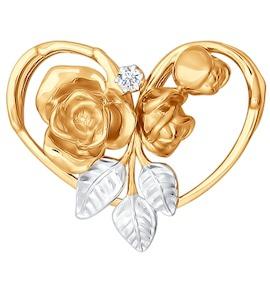 Подвеска из золота с бриллиантом 1030260