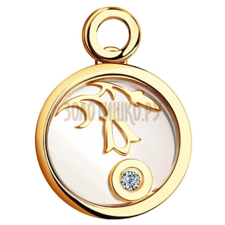 Подвеска из золота из коллекции charm 1030449