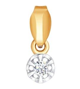 Подвеска из золота с бриллиантом 1030462