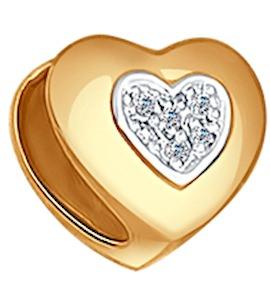 Подвеска шарм из золота с бриллиантами 1030504