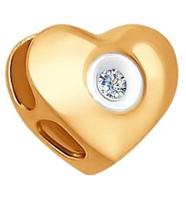 Подвеска-шарм из золота с бриллиантом 1030508