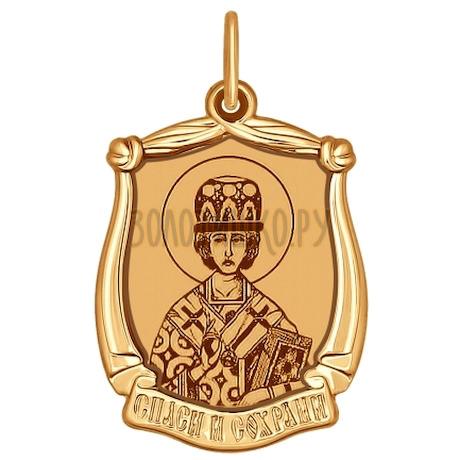 Иконка из золота с лазерной обработкой 103119